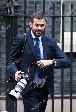 Andrew Parsons, photographer for Britain's Prime Minister Boris Johnson and Downing Street special advisor outside Downing Street number 10 Downing Street in London, Britain, 23 October 2020.