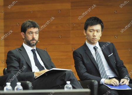 Stock Image of Andrea Agnelli, Steven Zhang