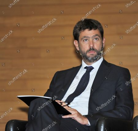 Editorial picture of Andrea Agnelli and Steven Zhang, Bocconi, Milan, Italy - 23 Oct 2020
