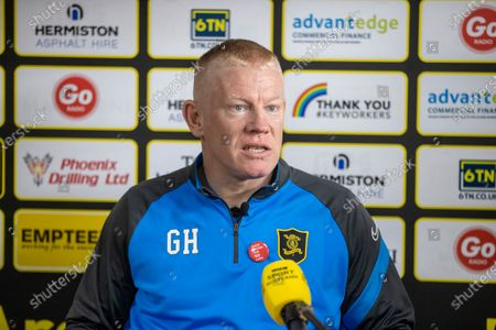Stock Picture of Livingston FC press conference with Gary Holt manager