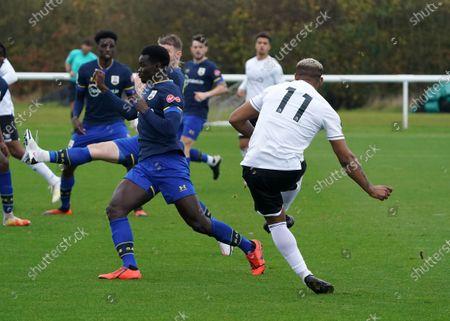 Stockbild på Jordon Ibe scores for Derby County U23's against Southampton U23's