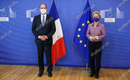 Editorial photo of Ursula Von Der Leyen welcomes Jean Castex, Brussels, Belgium - 23 Oct 2020