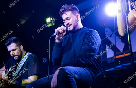 Stock Picture of Nikone performing with Kitai at Moby Dick Club in Madrid, Spain.