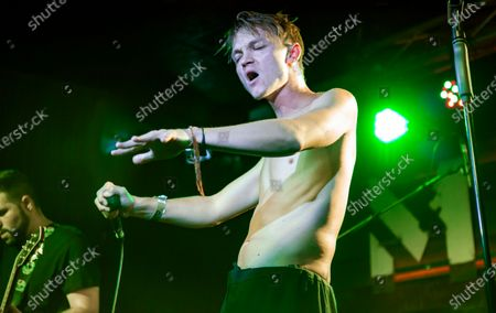 Stock Image of Alexander performing with Kitai at Moby Dick Club in Madrid, Spain.