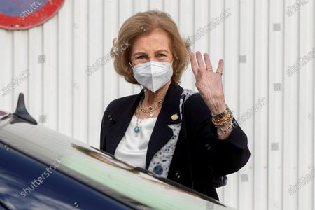 Editorial image of Emeritus Queen Sofia visits Food Bank facilities in Murcia, Spain - 23 Oct 2020