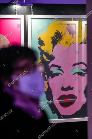 Editorial photo of Andy Warhol exhibition opens in Nichelino, Italy - 23 Oct 2020