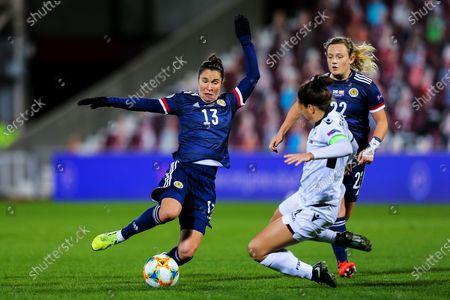 Editorial photo of Scotland Women v Albania Women, UEFA Womens European Championship Qualifier - 23 Oct 2020