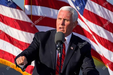 Election 2020 Pence, West Mifflin, United States - 23 Oct 2020 témájú szerkesztői kép