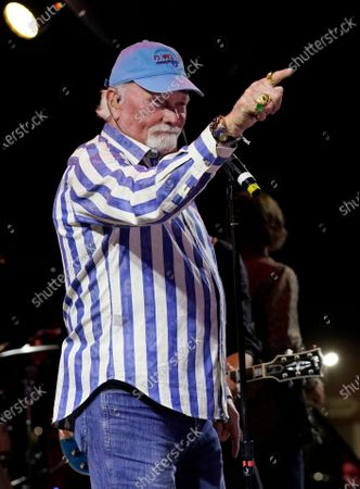Mike Love of The Beach Boys performs during the Concerts In Your Car series at the Ventura County Fairgrounds, in Ventura, Calif