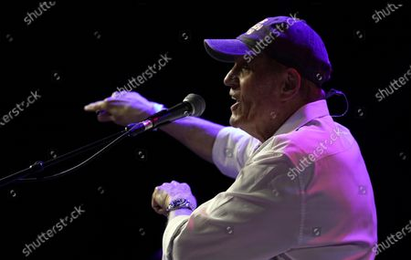 Bruce Johnston of The Beach Boys performs during the Concerts In Your Car series at the Ventura County Fairgrounds, in Ventura, Calif