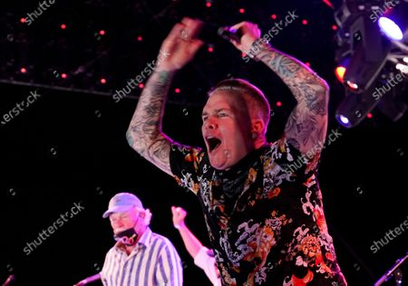 Mark McGrath performs with The Beach Boys during the Concerts In Your Car series at the Ventura County Fairgrounds, in Ventura, Calif