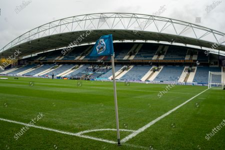 Stock Image of general view here at John smith stadium; 24th October 2020 The John Smiths Stadium, Huddersfield, Yorkshire, England; English Football League Championship Football, Huddersfield Town versus Preston North End.