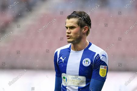 Tom Pearce (3) of Wigan Athletic in action during the game