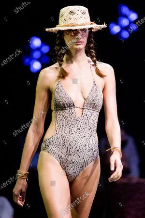 Stock Picture of Daniela Aciu on the catwalk