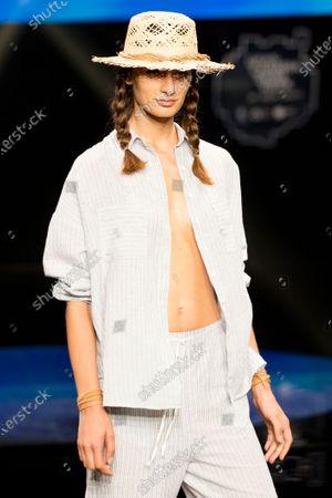 Stock Photo of Daniela Aciu on the catwalk