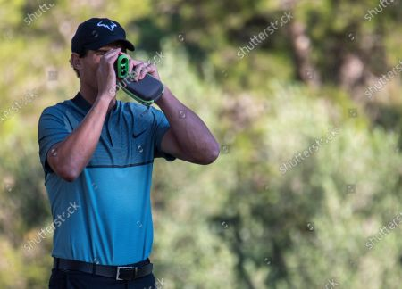 Spanish tennis player Rafael Nadal competes in Balearic Golf Championship at Maioris golf club in Llucmajor, Majorca island, eastern Spain, 24 October 2020.