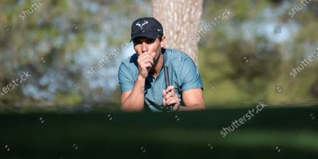 Editorial photo of Rafa Nadal competes in a golf tournament in Majorca, Llucmajor Mallorca, Spain - 24 Oct 2020