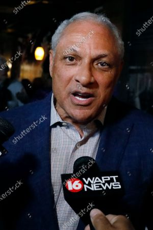 Mike Espy speaks to reporters in Jackson, Miss., after winning the Democratic nomination for a U.S. Senate race in Mississippi, . A former congressman, Espy faces Republican incumbent U.S. Sen. Cindy Hyde-Smith and Libertarian candidate Jimmy Edwards on Nov. 3, 2020