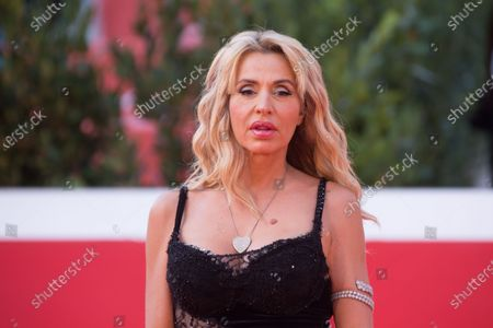 "Valeria Marini attends the red carpet of the tv series ""Romulus"" during the 15th Rome Film Festival on October 23, 2020 in Rome"