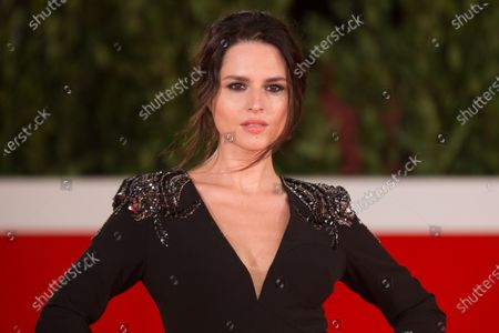 """Ivana Lotito attends the red carpet of the tv series """"Romulus"""" during the 15th Rome Film Festival on October 23, 2020 in Rome"""