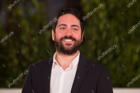 """Matteo Rovere attends the red carpet of the tv series """"Romulus"""" during the 15th Rome Film Festival on October 23, 2020 in Rome"""