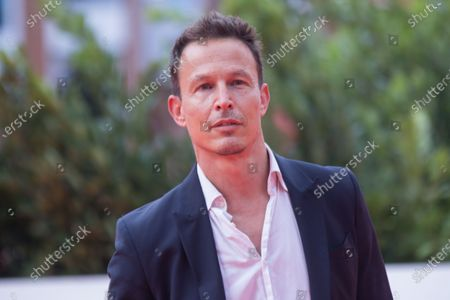"""Stock Image of Roberto Zibetti Cipriano attends the red carpet of the tv series """"Romulus"""" during the 15th Rome Film Festival on October 23, 2020 in Rome"""