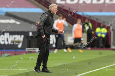 David Moyes Manager of West Ham United during the West Ham vs Manchester City Premier League Football held behind closed doors