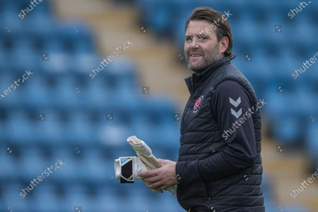 David Lucas, Goalkeeping Coach of Fleetwood Town FC ahead of the EFL Sky Bet League 1 match between Gillingham and Fleetwood Town at the MEMS Priestfield Stadium, Gillingham