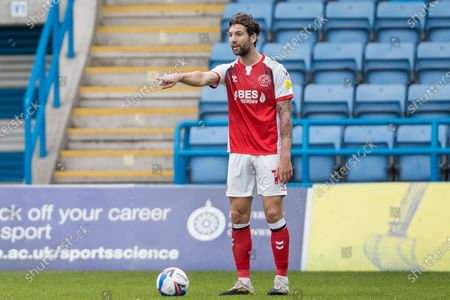 Charlie Mulgrew, Defender with Fleetwood Town FC (14) during the EFL Sky Bet League 1 match between Gillingham and Fleetwood Town at the MEMS Priestfield Stadium, Gillingham
