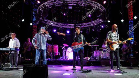 Bruce Johnston, Mike Love, John Stamos and Christian Love