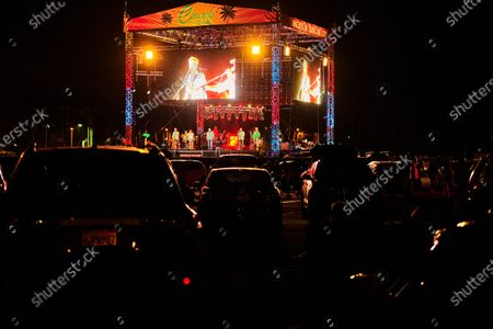 Editorial image of The Beach Boys with special guests John Stamos and Mark Mcgrath, CBF Productions Concerts in Your Car, Ventura, California, USA - 23 Oct 2020