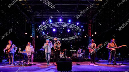 Stock Image of The Beach Boys include Mike Love lead vocal , Bruce Johnston frontline keys,