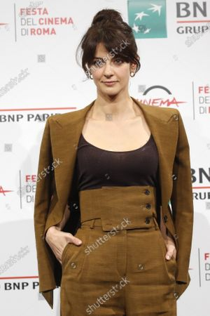 """Actress Barbara Ronchi poses for photographers during the photo call for the movie """"Cosa Sarà"""" at the Rome Film Festival, in Rome"""