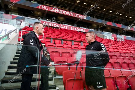 Bristol City assistant head coach Paul Simpson is interviewed ahead of the game