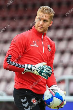 Stock Image of Portrait Ben Amos of Charlton Athletic during the EFL Sky Bet League 1 match between Northampton Town and Charlton Athletic at the PTS Academy Stadium, Northampton