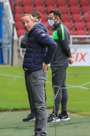 Charlton Athletic manager Lee Bowyer during the EFL Sky Bet League 1 match between Northampton Town and Charlton Athletic at the PTS Academy Stadium, Northampton