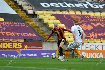 Tyler French during the EFL Sky Bet League 2 match between Bradford City and Newport County at the Utilita Energy Stadium, Bradford