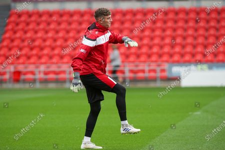 Doncaster goalkeeper Louis Jones (13) in the pre match warm up during the EFL Sky Bet League 1 match between Doncaster Rovers and Crewe Alexandra at the Keepmoat Stadium, Doncaster