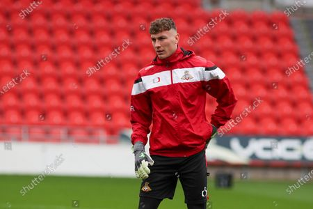 Stock Picture of Doncaster goalkeeper Louis Jones (13) in the pre match warm up during the EFL Sky Bet League 1 match between Doncaster Rovers and Crewe Alexandra at the Keepmoat Stadium, Doncaster