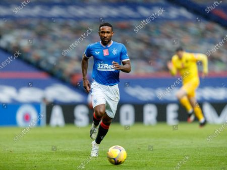 Jermain Defoe of Rangers during the Scottish Premiership match between Rangers & Livingston at Ibrox Stadium, Glasgow on 25 Oct 2020