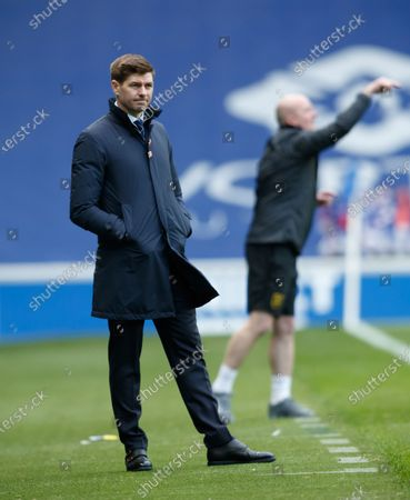 Rangers Manager Steven Gerrard during the Scottish Premiership match between Rangers & Livingston at Ibrox Stadium, Glasgow on 25 Oct 2020