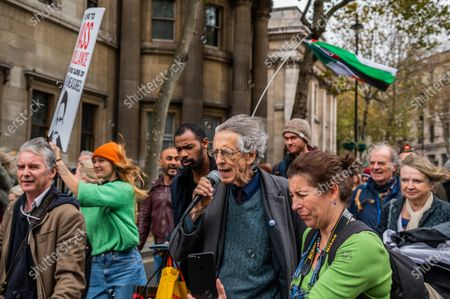 Piers Corbyn is againa vocal supporter - Covid hoax, get up stand up protest, against vaccinations, 5G and other issues - attendees believe that the virus is a way of controling the masses and taking away their freedoms. Organised by StandUpX 'A community of people protesting and standing up for our rights across the UK since May 2020'