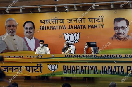 Editorial image of Press Conference Of Union Finance Minister Nirmala Sitharaman At BJP Headquarters, New Delhi, Delhi, India - 24 Oct 2020