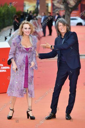 Stock Picture of Antonella Ponziani e il fotografo Fabio Schifino