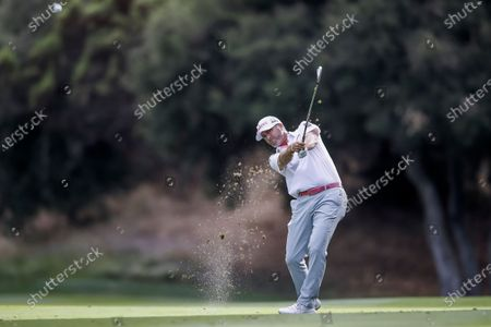 Ryan Palmer of the US on the 18th hole during the third round of the Zozo Championship PGA Tour golf tournament at the Sherwood Country Club in Thousand Oaks, California, USA, 24 October 2020.