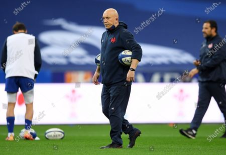 France defence coach Shaun Edwards during the warm up.