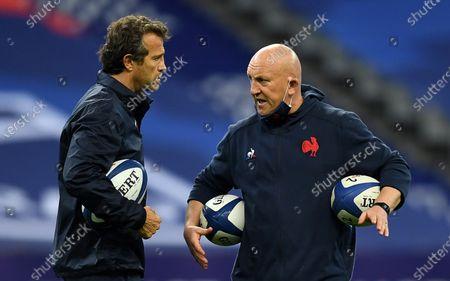 France head coach Fabien Galthie and defence coach Shaun Edwards