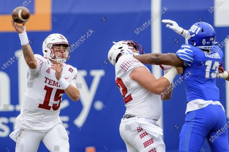 Temple quarterback Anthony Russo (15) throws against Memphis during an NCAA football game on in Memphis, Tenn
