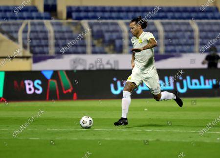 Al-Ittihad player Aleksandar Prijovic in action during the Saudi Professional League soccer match between Al-Fateh and Al-Ittihad at Prince Abdullah bin Jalawi Stadium, in Hasa, Saudi Arabia, 24 October 2020.