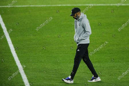 Montreal Impact head coach Thierry Henry exits the field after his team lost 3-1 to New York City FC during their MLS match, at Yankee Stadium in New York